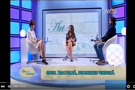 Sacroterapie in emisiunea Arta Fericirii TVR2 cu Marius Vornicescu si Dr. Herdea Valeria